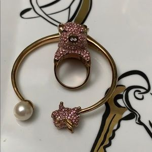 Pigs can fly ring & bracelet